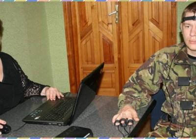 Штатный эксперт-полиграфолог DASC-Украина проводит проверку в Харьковском офисе